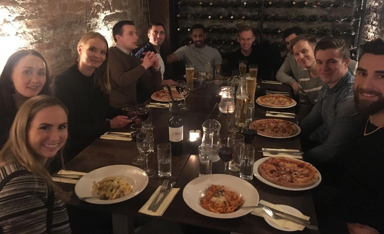 Dinner with the Blacksmith team